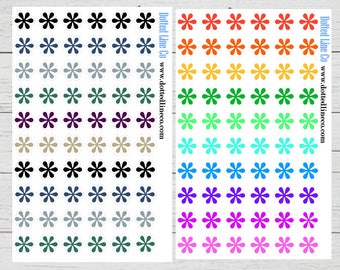 Neutral and Bold Asterisks Planner Stickers