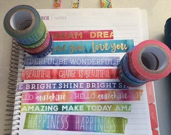 Recollections ColorSplash Word Washi Sample - 24 inches - choose your style