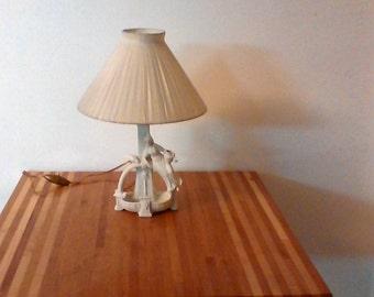 Bisque porcelain bedside lamp