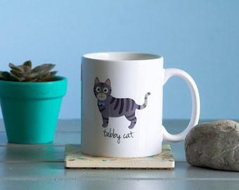 Tabby Cat Mug (gray - boy)