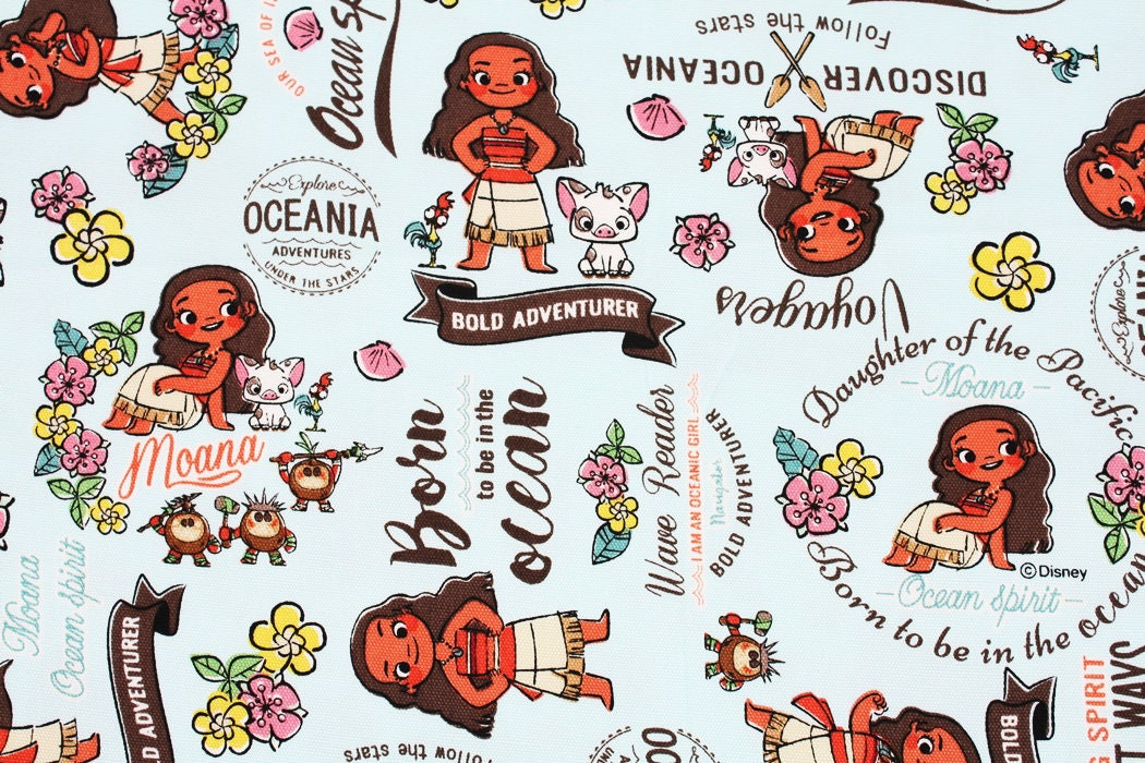 Disney moana character fabric made in japan fq 45cm by for Kids character fabric