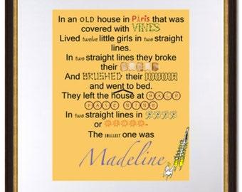 Madeline Opening Lines-Digital Print