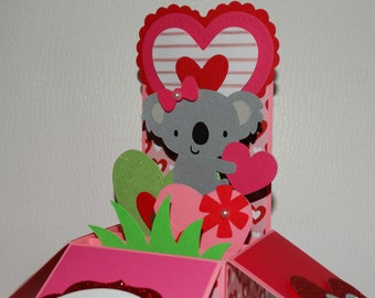 Happy Birthday, koala  handmade 3D pop up greeting card