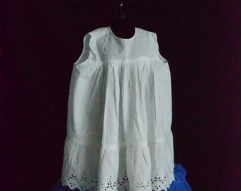 Handmade Antique Baby Dress, Vintage white lace