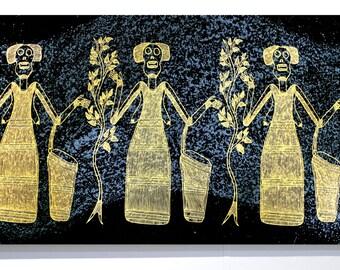 Fabric Art Panel - Sugarbag Woman by Junior Nadjamerrek