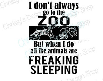 Sleeping animals svg / zoo trip svg / tiger svg / sleeping bears svg / zoo party svg / sleeping animals dxf / wood sign template / zoo clip