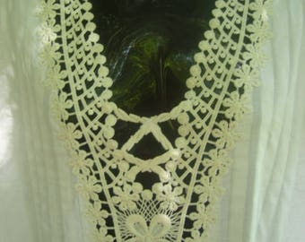 White Cotton Nightgown with Lace CUSTOM ORDER