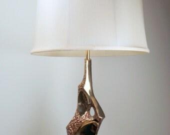 Vintage Laurel Lamp. Mid Century Modern  Maurizio Tempestini Brutalist Lamp for Laurel. Table Lamp