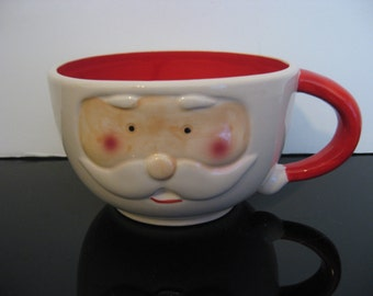Large Santa Claus Face Mug/Bowl