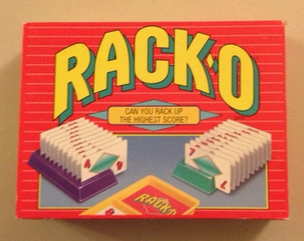 Vintage 1992 Rack•O game