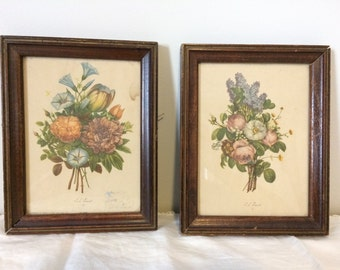 Pair of JL Prevost Botanical Prints