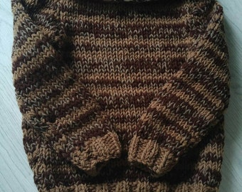 Handknit bardot type sweater