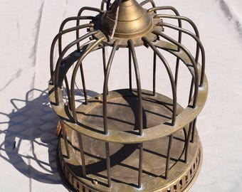 Vintage Brass Bird Cage, Bird Cage, Bird Decor, Brass Bird Cage, Bird Cage Decor
