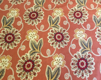 100% cotton Bold Blooms fabric 145cm wide.
