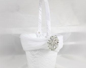 Flower Girl Basket, Flower Girl, Wedding Basket, White Wedding, Flower girl,