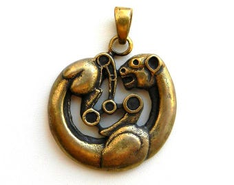 Scythian panther Scythian art Animal style Scythian gold Museum replicas Replica necklace Acient pendant Scythian pendant Ethnic style Gift