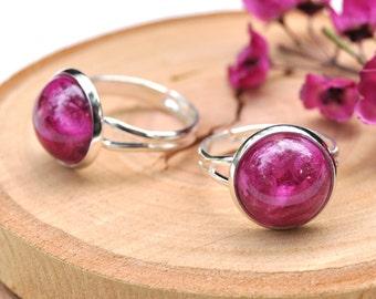 Real Flower Ring, Boronia Flower Ring, Gift for Her, Botanical Ring, Eco Resin Ring, Terrarium Jewelry, Eco Resin Jewelry, Australian Flower