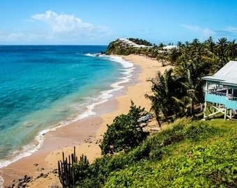 Photograph of Tropical beach in Antigua
