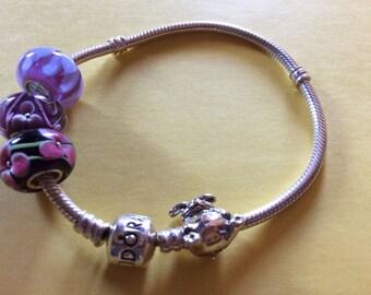 SALE!  Pandora Sterling Snake Chain Bracelet