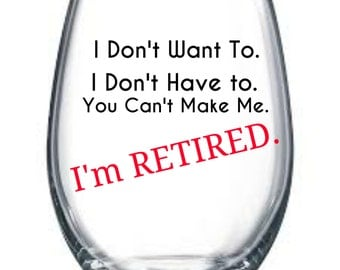 Retired wine glass