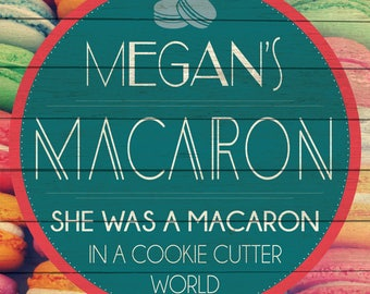 Custom Macaron Sign Digital Download