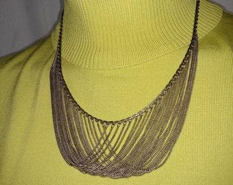 925 Silver Necklace/Multi String Silver Necklace/Multi Chains Silver Necklace/Vintage Silver Necklace/Bib Silver Chains Necklace/ Nr.211