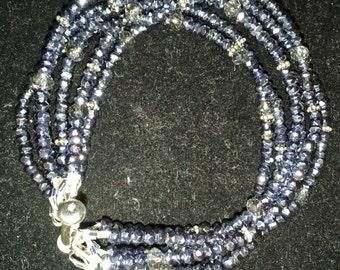 Silver Pyrite Multistrand Bracelet