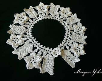 White collar Crochet collar Crochet collar necklace Crochet jewelry Gift for her Lace collar white Crochet necklace Woman accessories