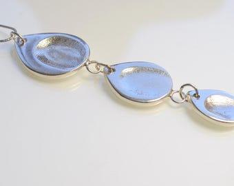 Silver Fingerprint pendant.