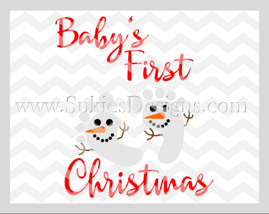 Baby's First Christmas SVG File For Cricut and Cameo DXF