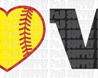 Love Baseball/Softball SVG, DXF - Digital Cut file for Cricut or Silhouette svg dxf