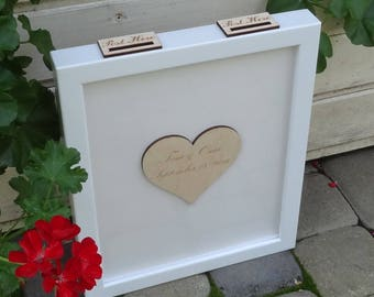 Wedding Guest Book Alternative Guest Book Guest Book Drop Box Top  Custom Guest Book Rustic Guest Book GuestBook
