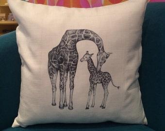 Giraffe Animal Cushion and Inner One Child