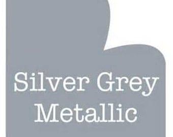 5 Foot Roll of Oracal 651 Adhesive Vinyl - Silver Grey Metallic #090
