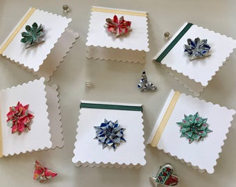 Mini Origami Flower Cards