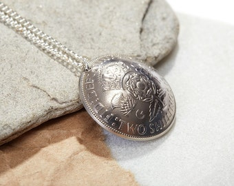 Domed Two Shilling Necklace