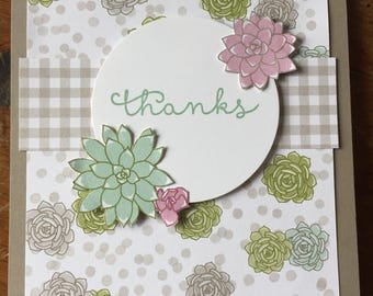 Set of 10 Assorted Thank You Cards, Handmade Cards, Stampin' Up Cards