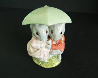 Vintage Beswick England Beatrix Potter/Goody and Timmy Tiptoes backstamp BP3c/ gift