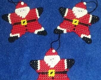 Santa Star Ornaments