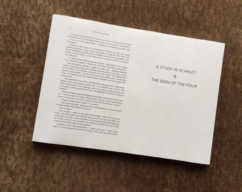 Ready-to-Bind - Sherlock Holmes: A Study in Scarlet, & The Sign of the Four