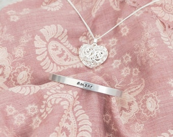 Personalised Bangle Gift Set - with scarf and necklace