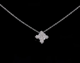 Cubic Zirconia Necklace, CZ Necklace, Silver Necklace, Delicate Necklace, Simple Necklace, Bridal Necklace, Bridesmaid Necklace, gift for