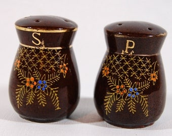 Vintage Hand Painted  Salt and Pepper