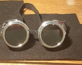 Silver Steampunk Goggles