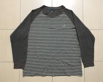 Vintage 90's Hangten Sport Classic Design Skate Sweat Shirt Sweater Varsity Jacket Size M #A530