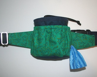 CUSTOM Dog Training Bait Bag, Belt Bag, Treat Bag - Dog Walking Belt Bag - Dog Lovers - Puppy Gift - Agility - Tricks - Obedience