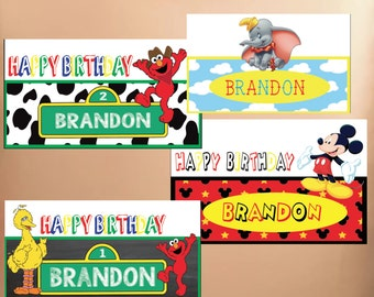 Snap Chat Geofilters Childrens Birthday Party  - Dumbo, Mickey, Elmo, Cowboy Customizable