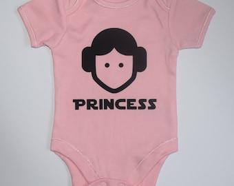 Star Wars Princess Leia baby vest bodysuit 0-18 months