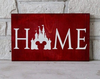 Disney Home Wood Sign