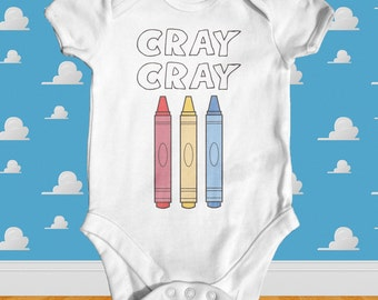 Cray Cray Baby Bodysuit | Cute Baby Clothes| Baby Shower Gift | Funny Baby Clothes | Slogan Baby Bodysuit | Trendy Baby Clothes